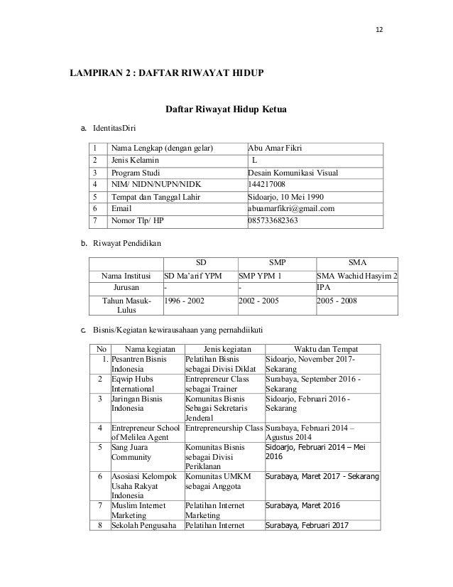 Contoh proposal kompetisi bisnis mahasiswa indonesia (kbmi ...