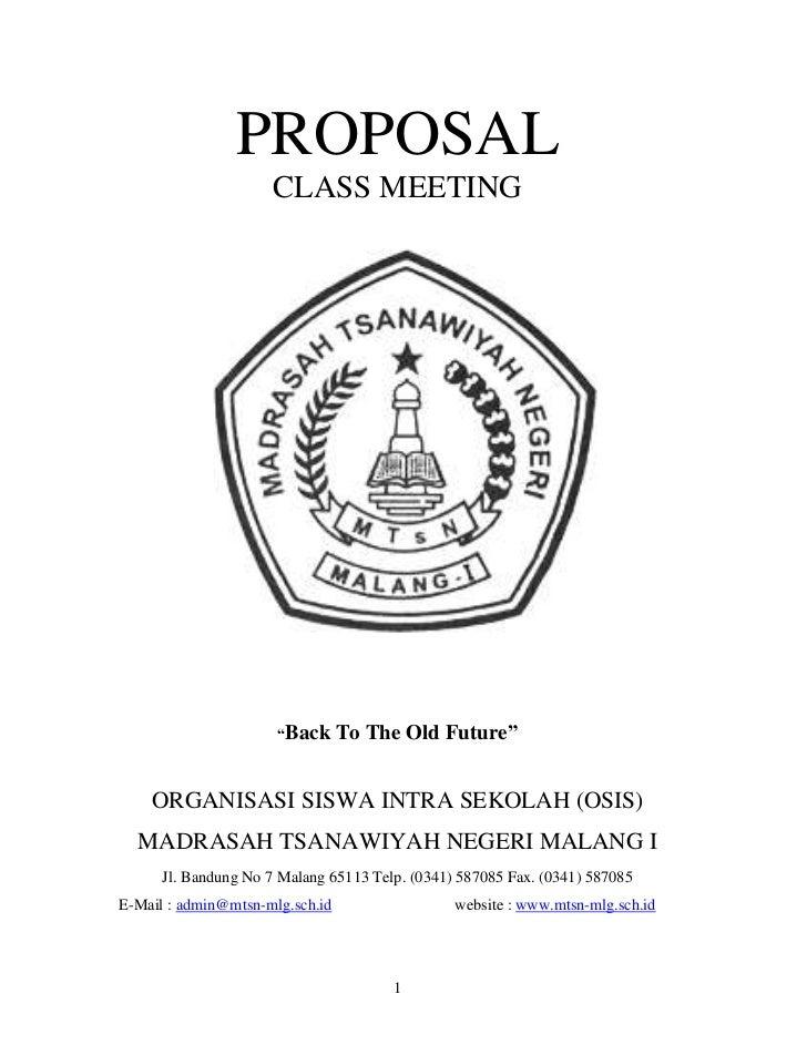 Contoh proposal osis