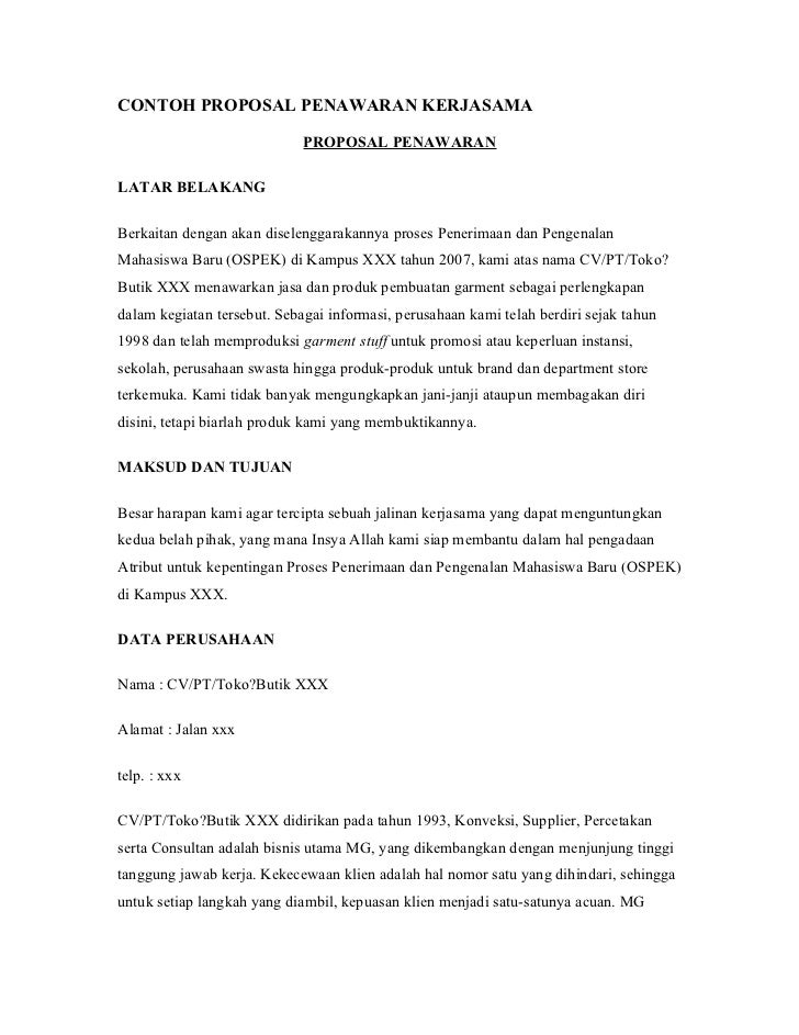 Contoh Proposal Usaha Cafe Kopi Pdf
