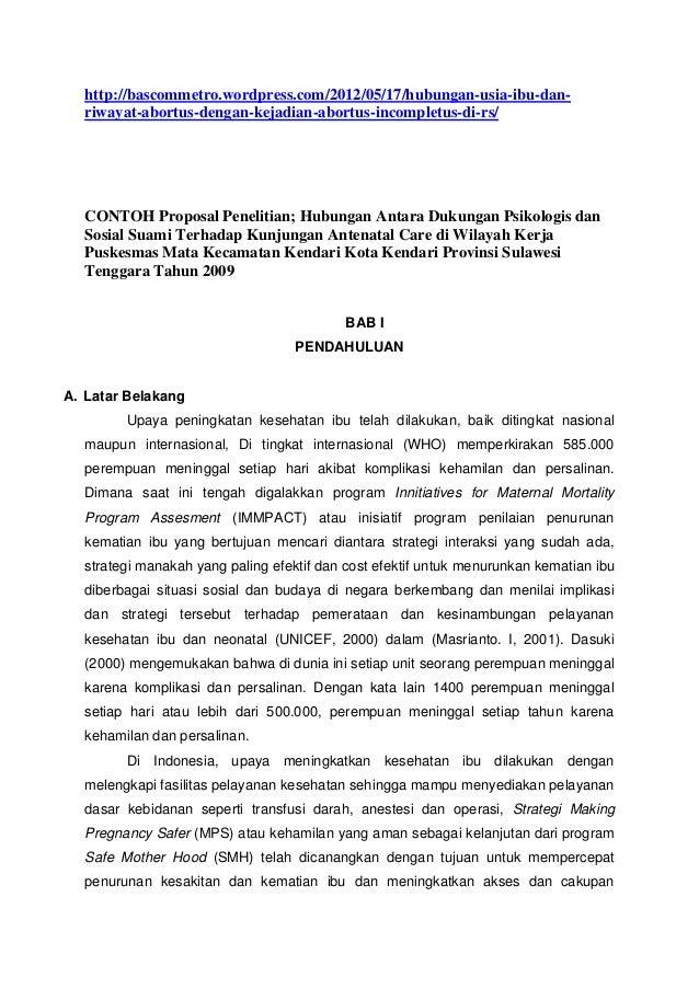 Proposal penelitian manajemen pemasaran pdf