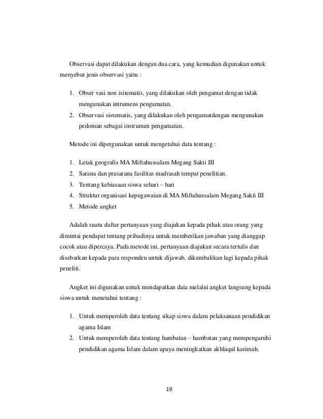 Contoh Proposal Pengajuan Skripsi