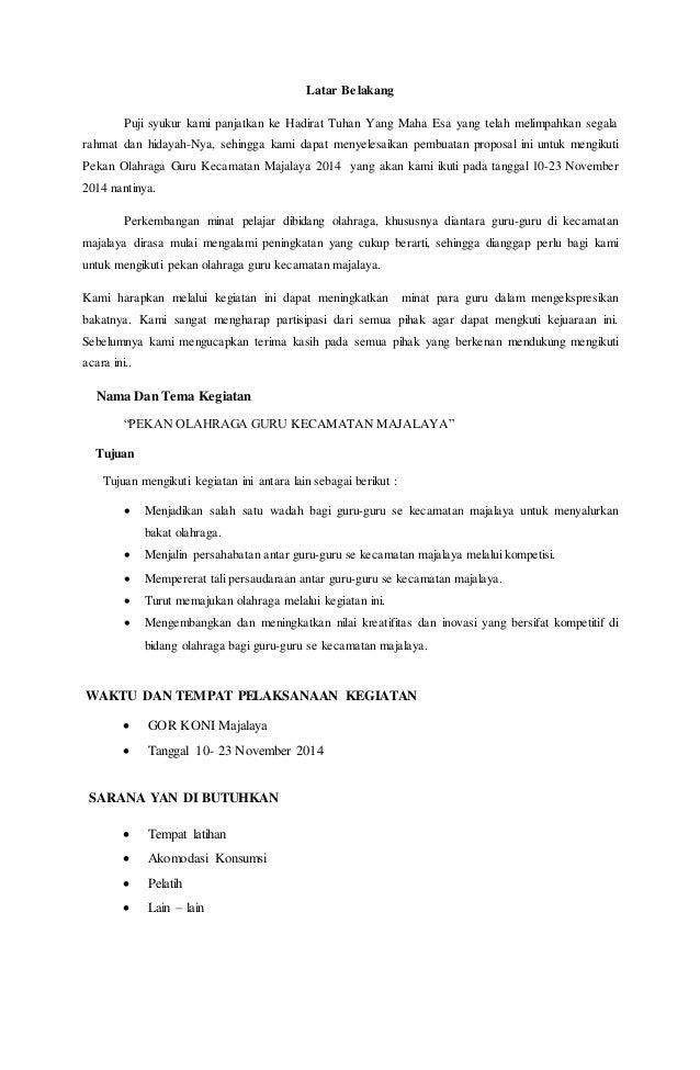 Contoh Proposal Pertandingan Porgur