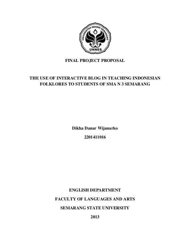 Proposal Penelitian Kualitatif Tesis Bahasa Indonesia Proposal