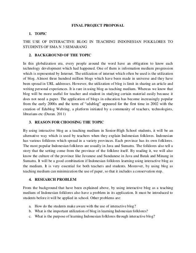 Contoh Proposal Skripsi Bahasa Inggris