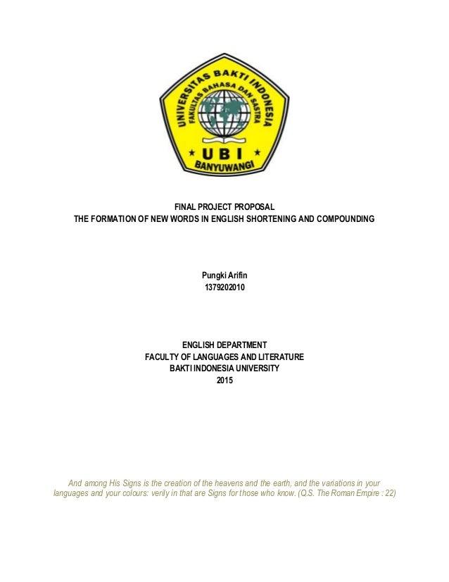 Proposal Skripsi Bahasa Inggris Pdf