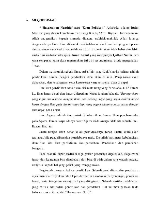 Contoh Proposal Tasyakkur Imtihan Dan Pengajian Umum Haflah Akhiruss