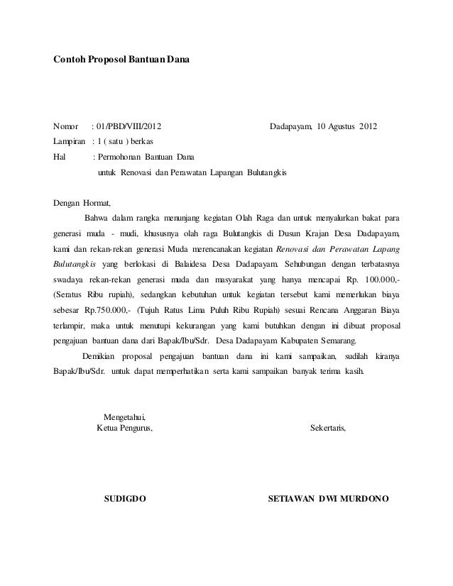 Contoh Proposal Pembangunan Tribun Lapangan Sepak Bola Pdf Berbagi Contoh Proposal