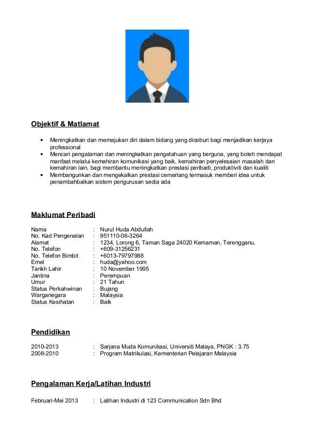 Resume Sample Resume In Bahasa Malaysia resume bahasa melayu template melayu