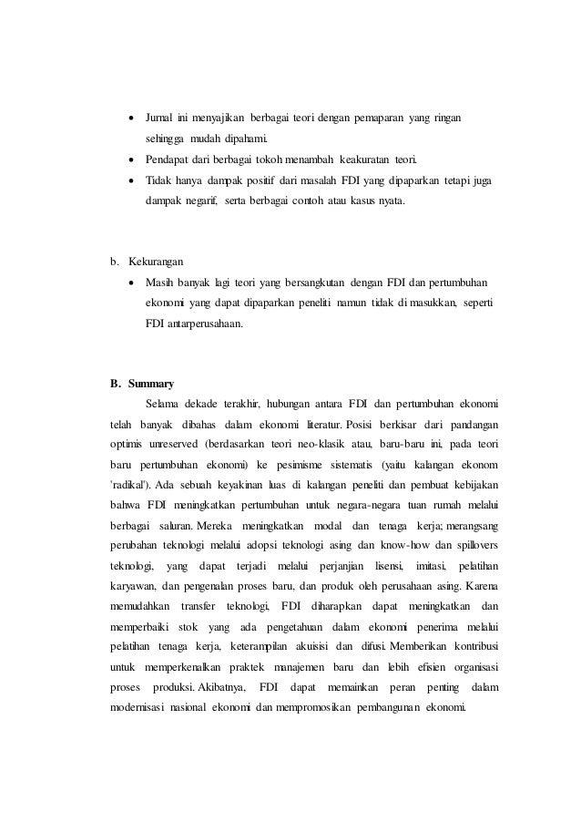 Contoh Critical Review Jurnal Ekonomi Makro Jurnal Indonesia
