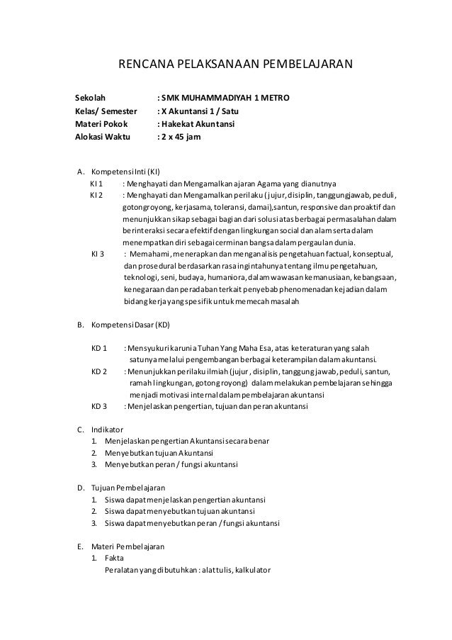 Rpp Akuntansi Smk Kelas Xi Download Ilmusosial Id