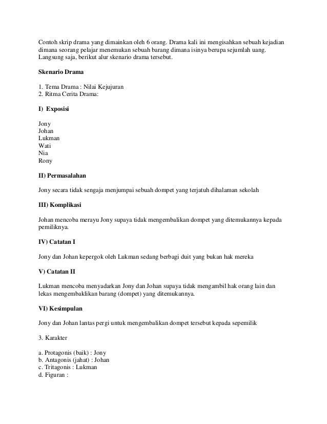 Contoh Naskah Drama Lucu 6 Orang Download Wiropard