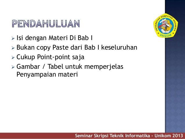 Contoh slide presentasi seminar skripsi