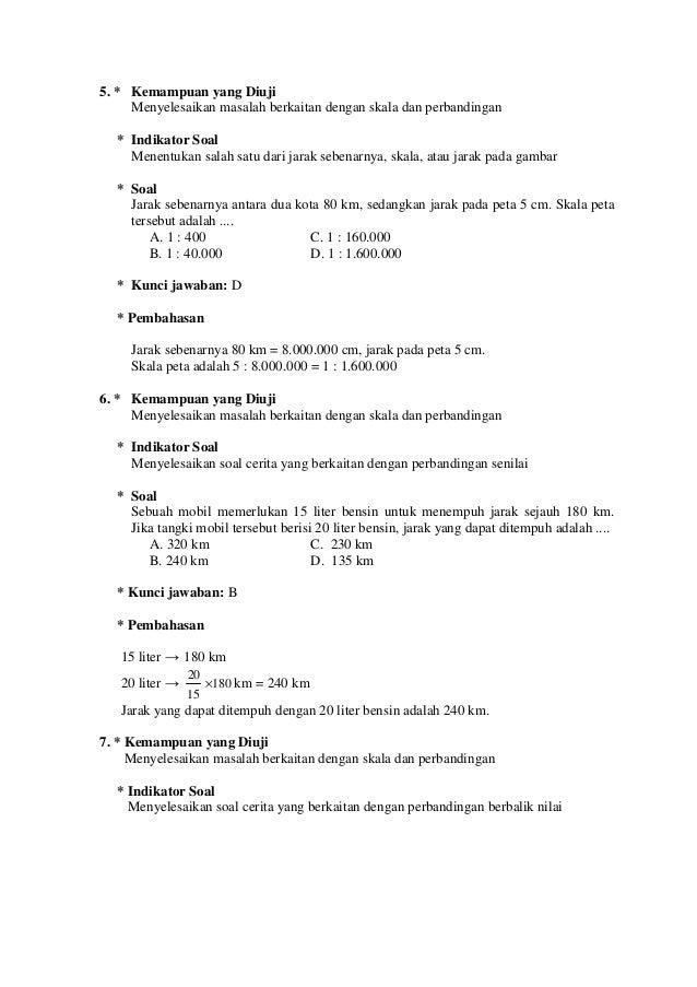 Contoh Soal Dan Pembahasan Matematika Smp