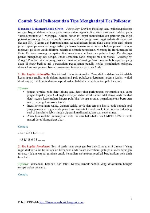 Contoh Soal Psikotes Ebook Contoh Soal Psikotes Pertamina Dan Jawabannya Contoh Psikotes Gambar