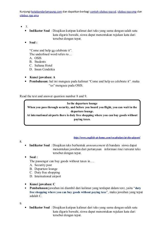 Contoh Soal Short Message Smp Kelas 8 Beserta Jawabannya  Answerplane.com