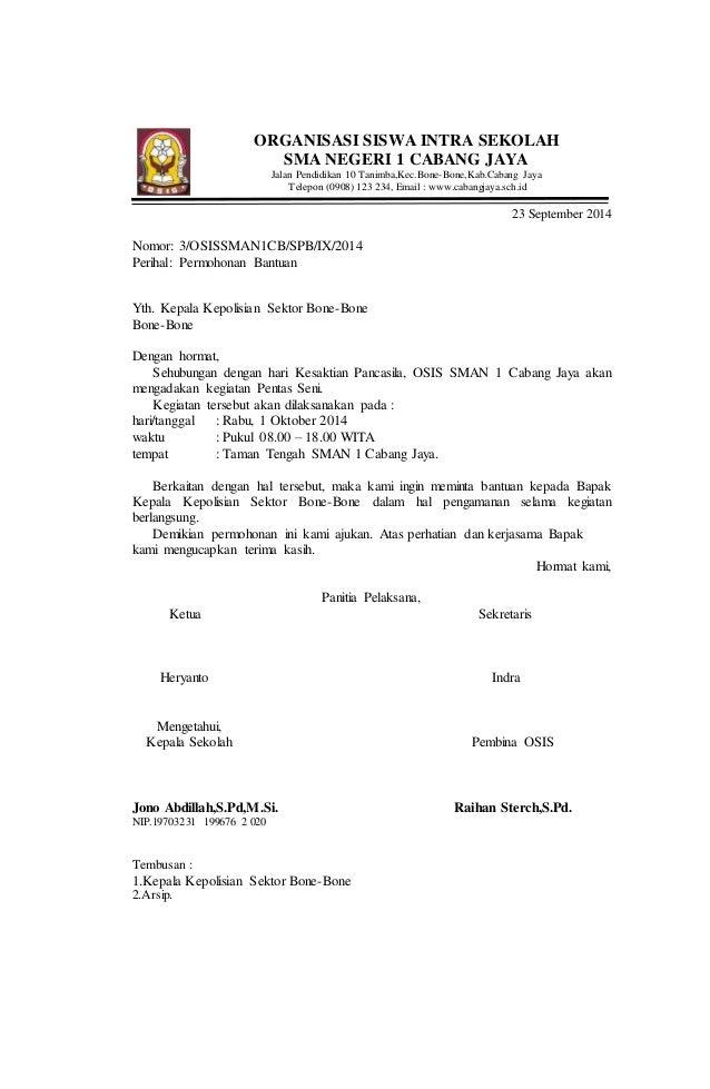 contoh surat dinas tentang permohonan bantuan keamanan