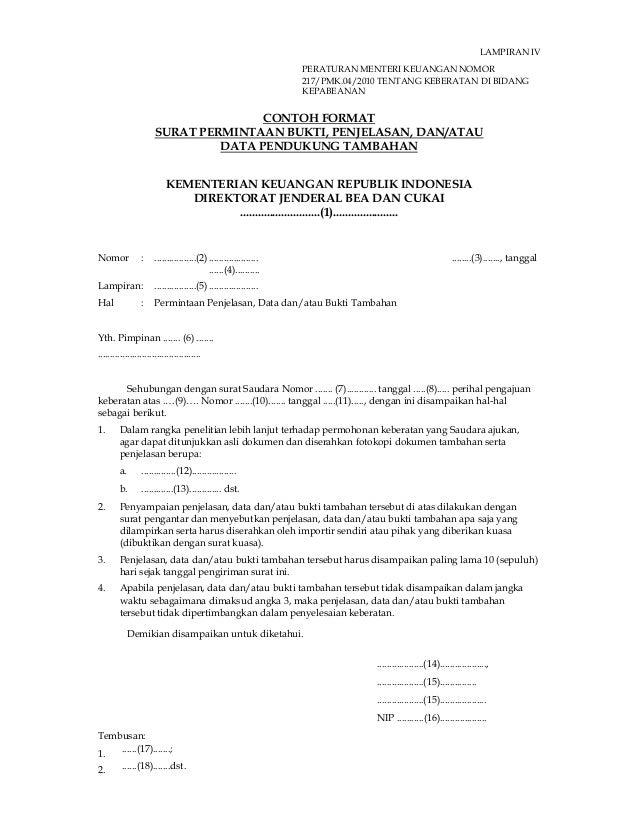 Surat Complain