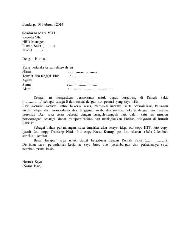 contoh surat lamaran bidan http contohsurat
