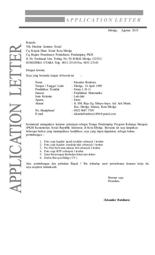 Contoh Surat Lamaran Untuk Cpns Bin - Kumpulan Contoh ...
