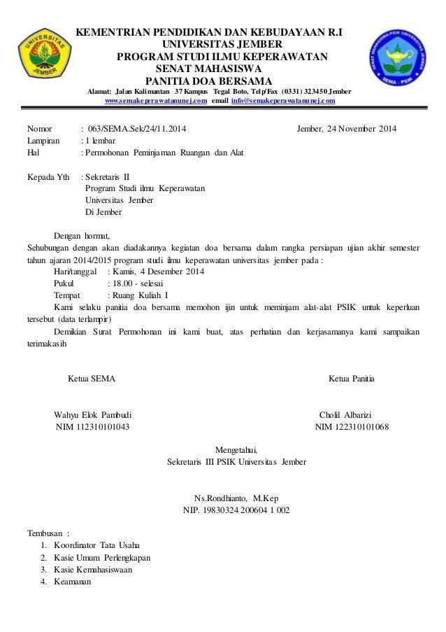 contoh surat peminjaman ruang