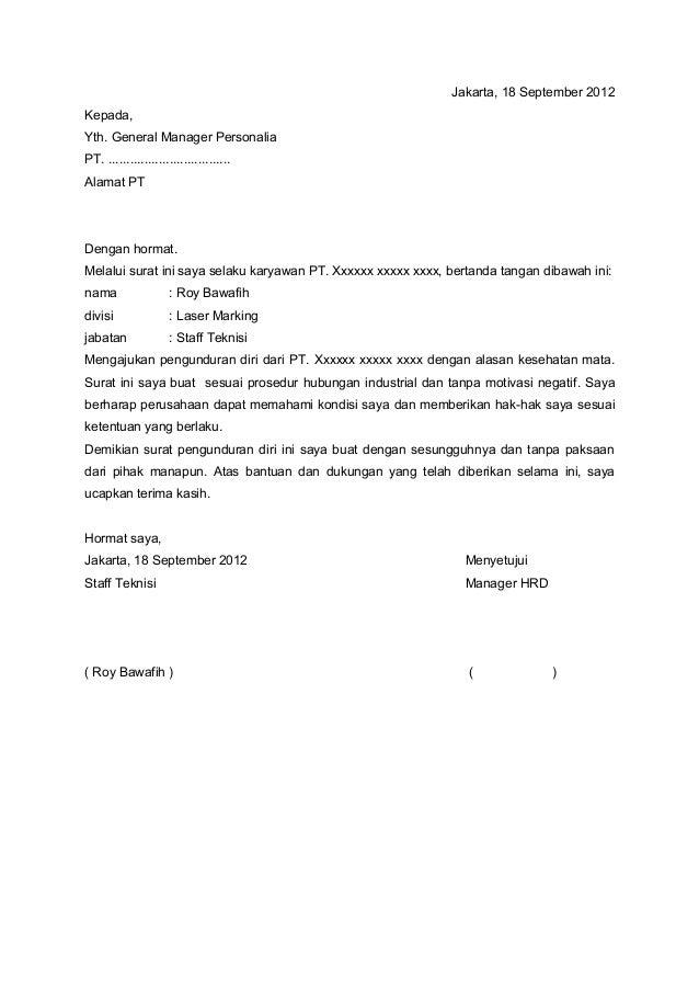 Format Surat Resign Resmi Gumus Northeastfitness Co
