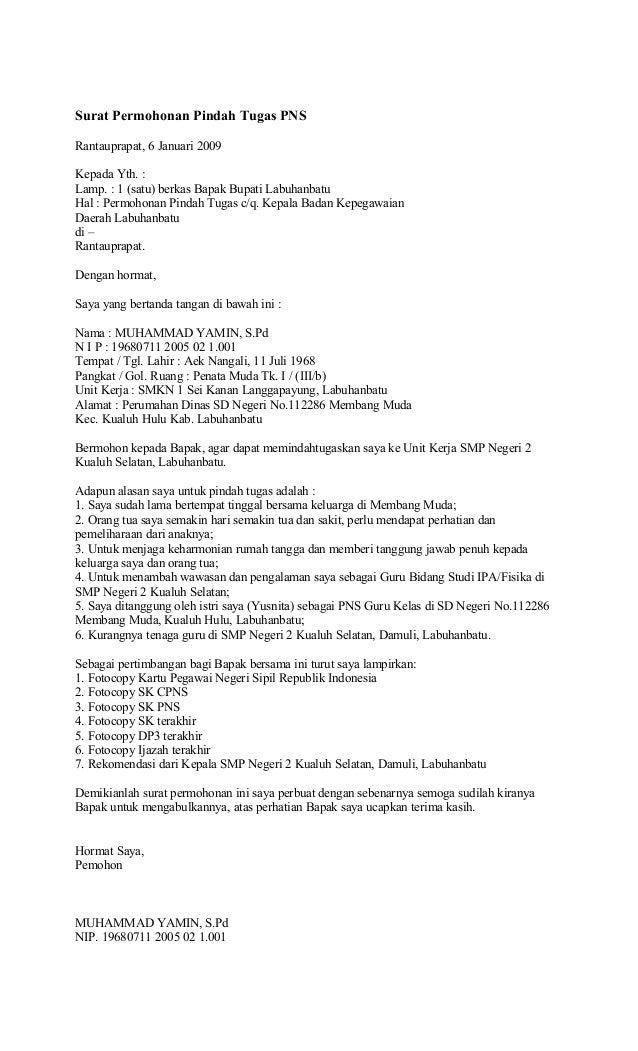 contoh surat mutasi wisata dan info sumbar