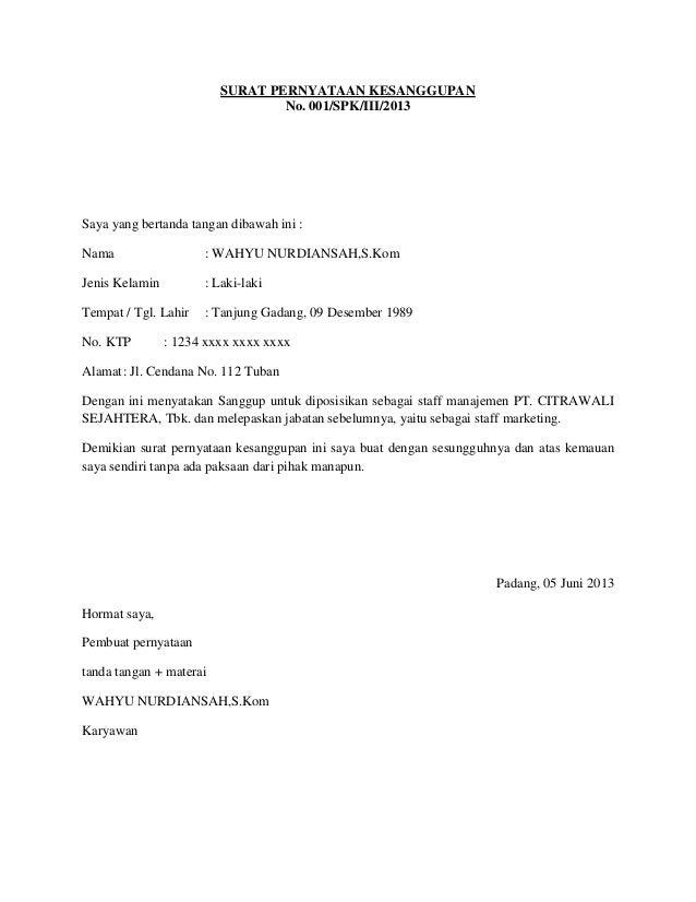 Contoh surat pernyataan thecheapjerseys Image collections