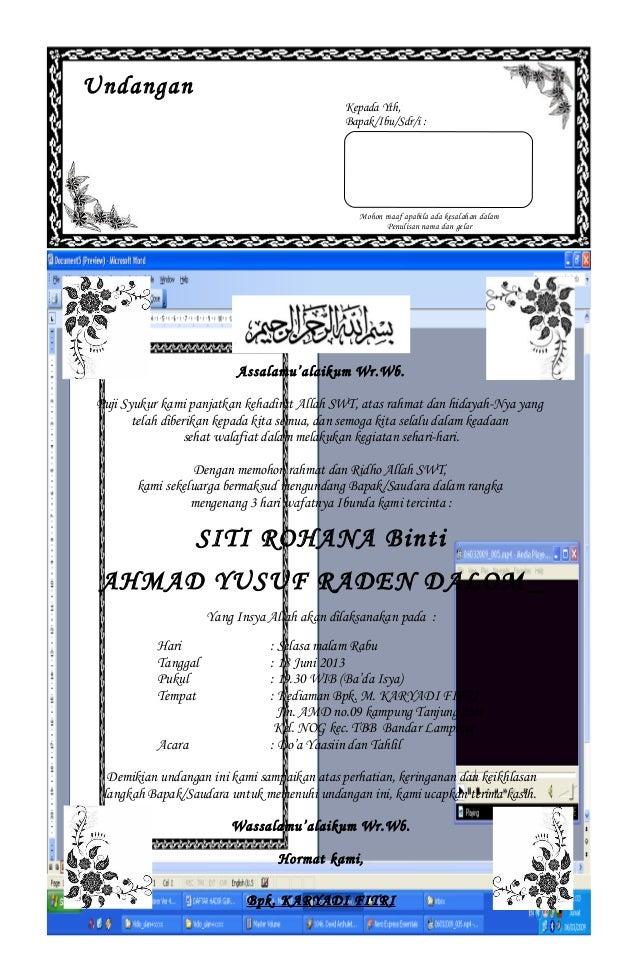 Undangan Kepada Yth, Bapak/Ibu/Sdr/i : Mohon maaf apabila ada kesalahan dalam Penulisan nama dan gelar Assalamu'alaikum Wr...