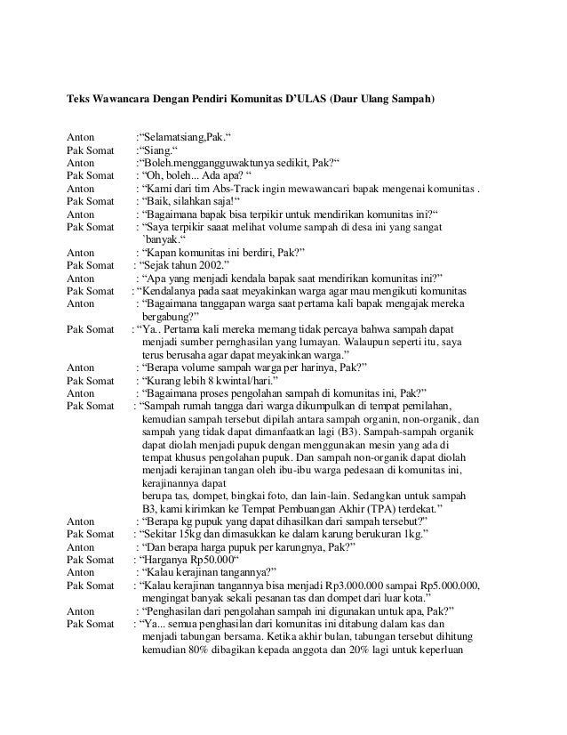 Contoh Artikel Wawancara Dengan Narasumber James Horner Unofficial