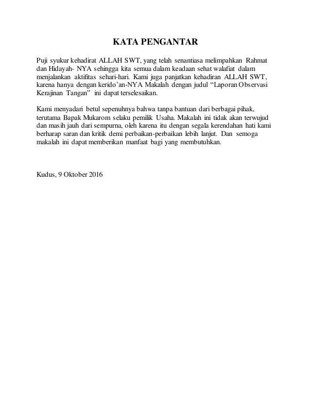Contoh Tugas B Indo Laporan Observasi