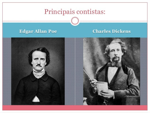 Edgar Allan Poe Charles Dickens Principais contistas: