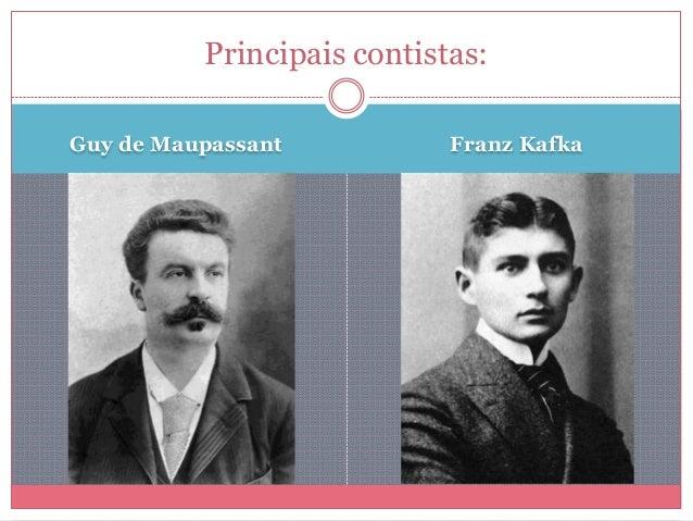 Guy de Maupassant Franz Kafka Principais contistas:
