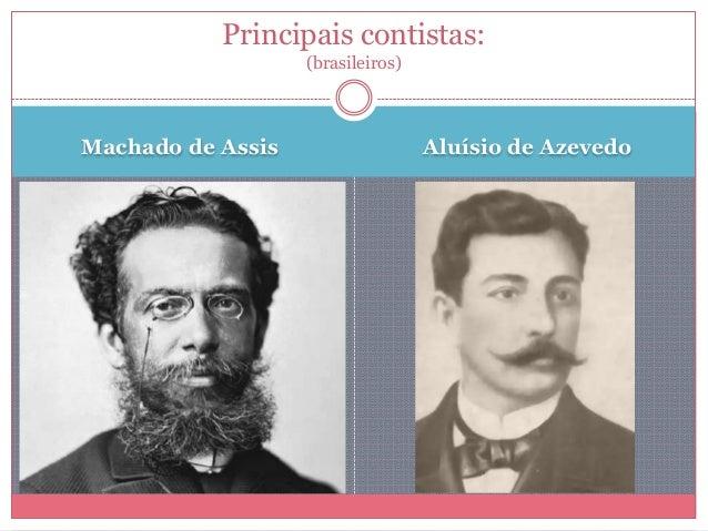 Machado de Assis Aluísio de Azevedo Principais contistas: (brasileiros)