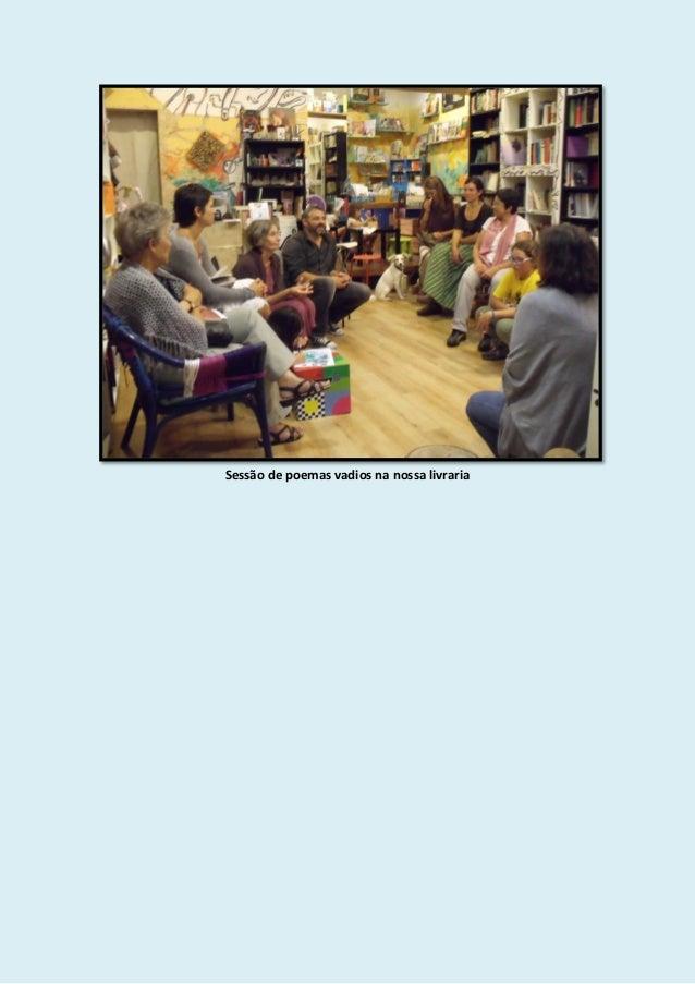 Sessão de poemas vadios na nossa livraria