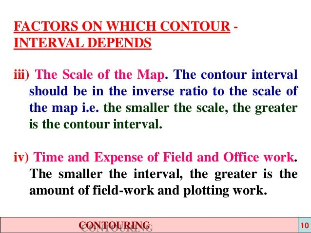 Topographic Maps Notes |Contour Interval Ratio