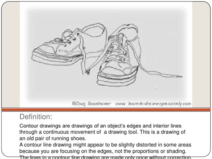 Continuous Contour Line Drawing Definition : Contour linedrawing