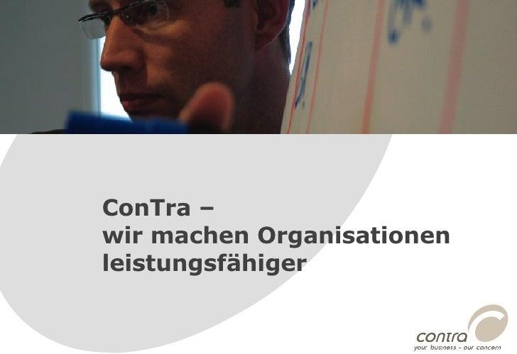 ConTra –  wir machen Organisationen leistungsfähiger