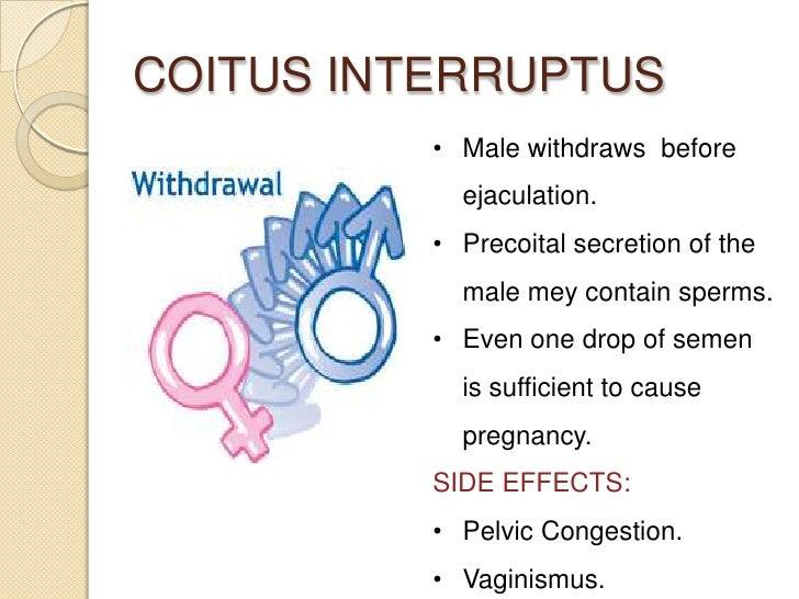 Contraception for Coito interruptus