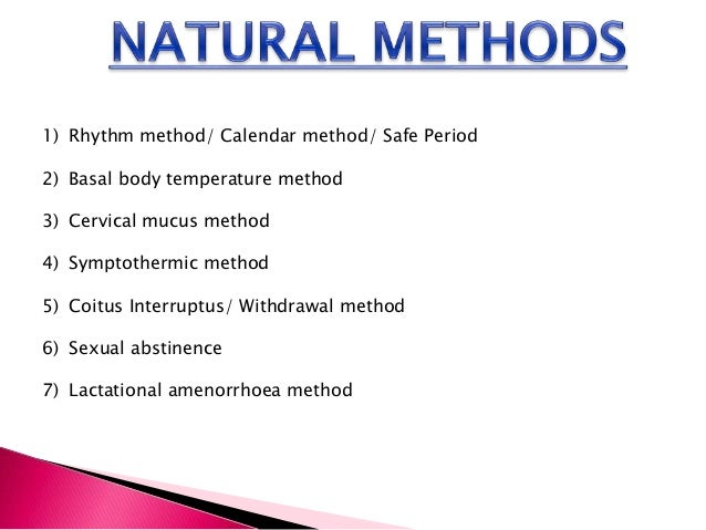 Rythm method of contraception