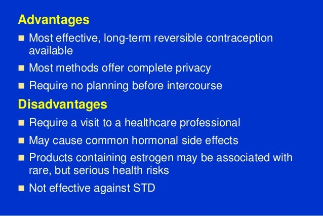 Week 6 checkpoint methods of contraception