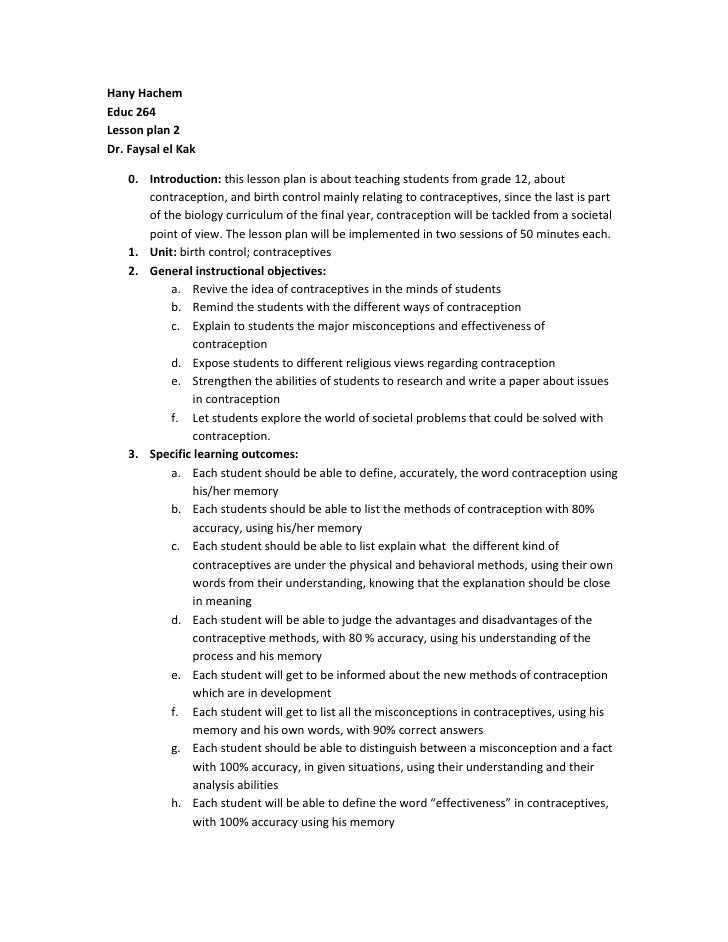 Hany HachemEduc 264Lesson plan 2Dr. Faysal el Kak<br /><ul><li>Introduction: this lesson plan is about teaching students f...