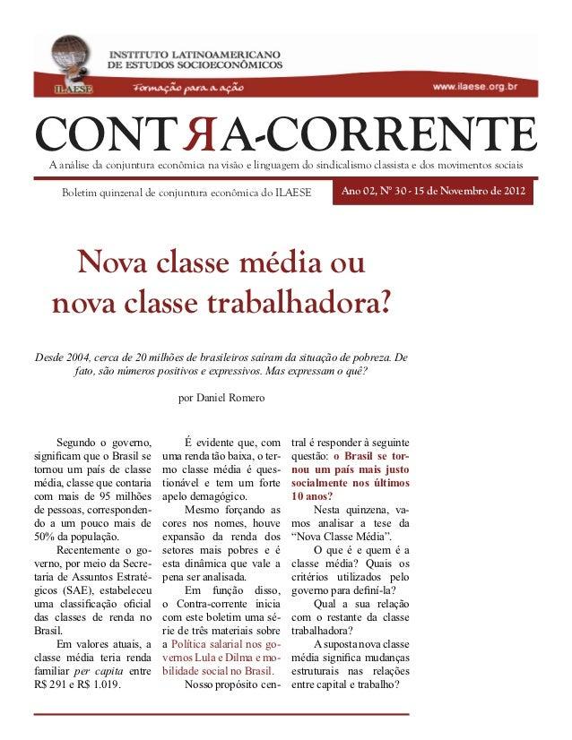 CONT R A-CORRENTE   A análise da conjuntura econômica na visão e linguagem do sindicalismo classista e dos movimentos soci...
