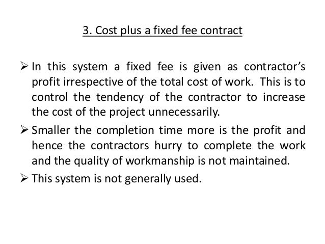 Estimation And Costing Contracts
