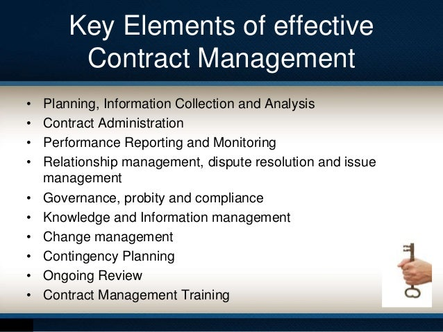 effective contract management essay Critical factors in contract management fig working week 2012 effective maintenance strategies 1 findings & analysis of maintenance decisions.