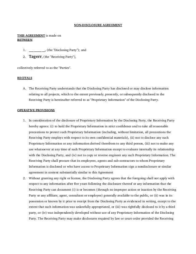 Contract Nda