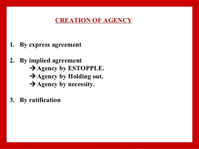 Contract Of Agency Business Law