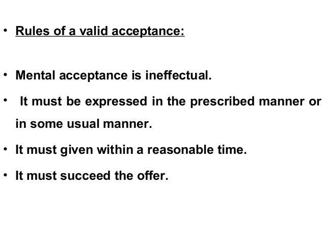 valid acceptance