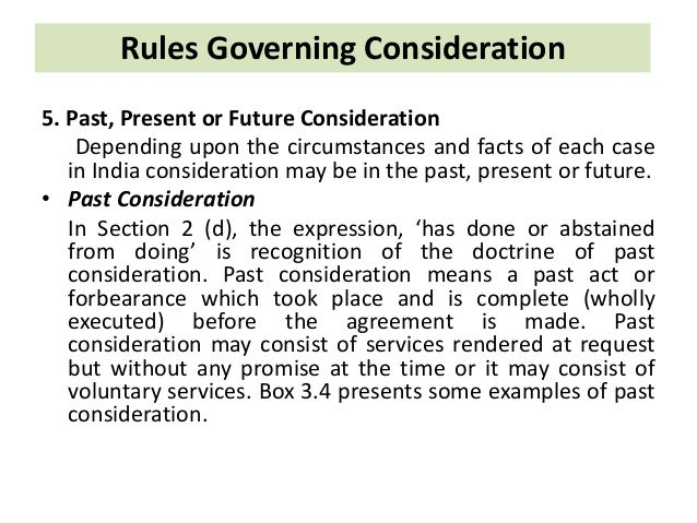 rules governing consideration
