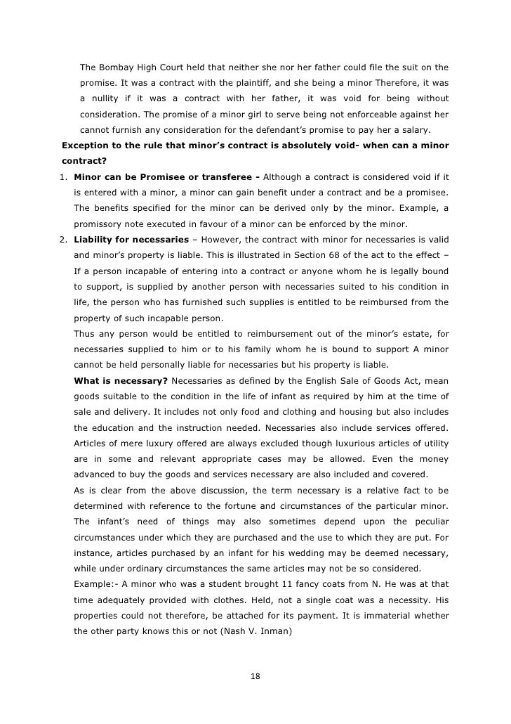 Contract Act Notes