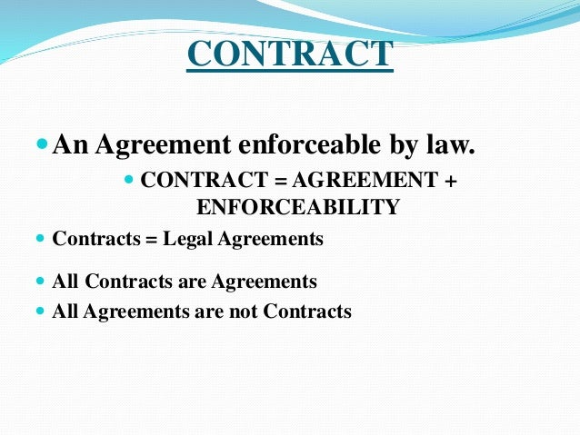 Contract And Its Kinds